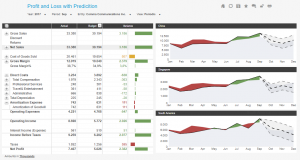 Profit and Loss incl predictive analysis
